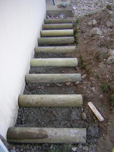 Escalier Exterieur Rondin